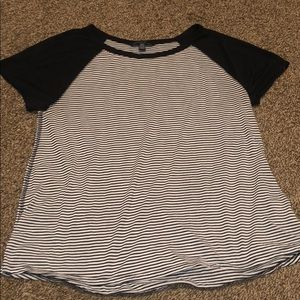 White and black strip T-shirt